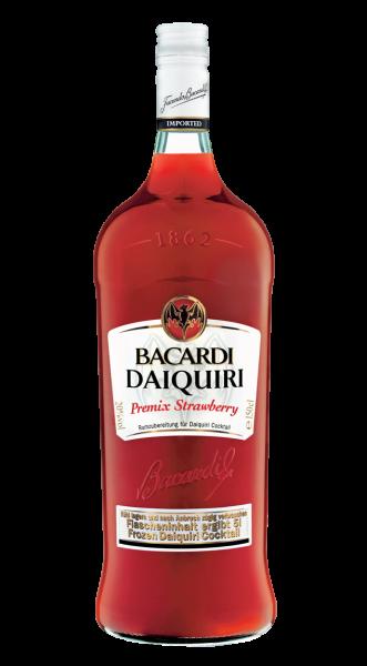 Bacardi Daiquiri Strawberry Rum Premix-Flasche 20% 1,5l