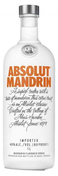 Absolut Vodka Mandrin 40% 1,0l !