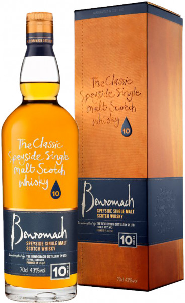Benromach 10 years Speyside Single Malt Whisky 43% 0,70l!