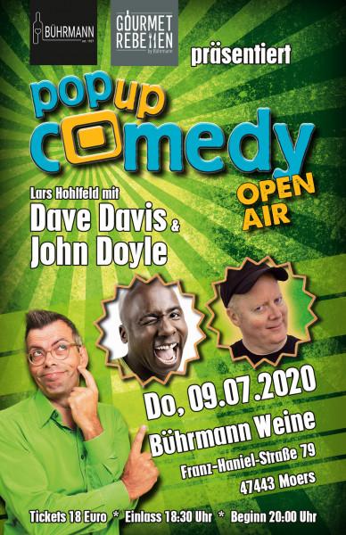 Bührmann`s Pop Up Comedy Open Air am 09.07.2020 Beginn 20:00 Uhr Einlass: 18:30 Uhr