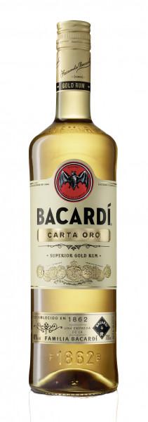 Bacardi Carta Oro Rum 40% 0,7l !