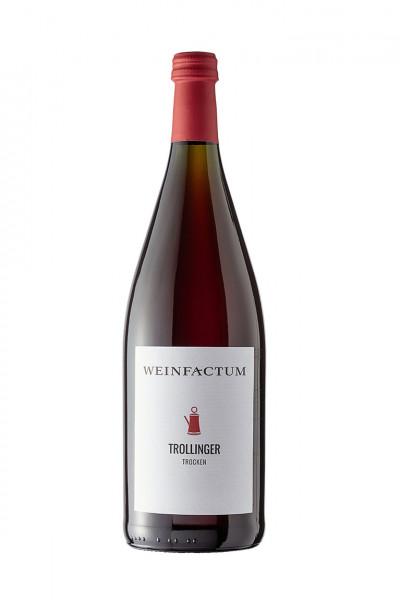 2016 Weinfactum Cannstatter Berg Trollinger Trocken 1,00 l Mehrweg!