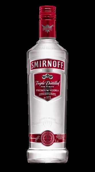 Smirnoff Vodka Red Label 37,5% 24 Fl. a 0,05l!