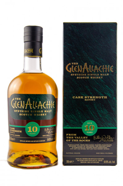 GlenAllachie 10 years Cask Strenght Batch 02 Single Speyside Malt Whisky 54,8% 0,7l!