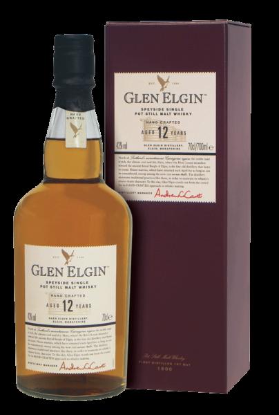 Glen Elgin 12 years Speyside Malt Whisky 43% 0,7l