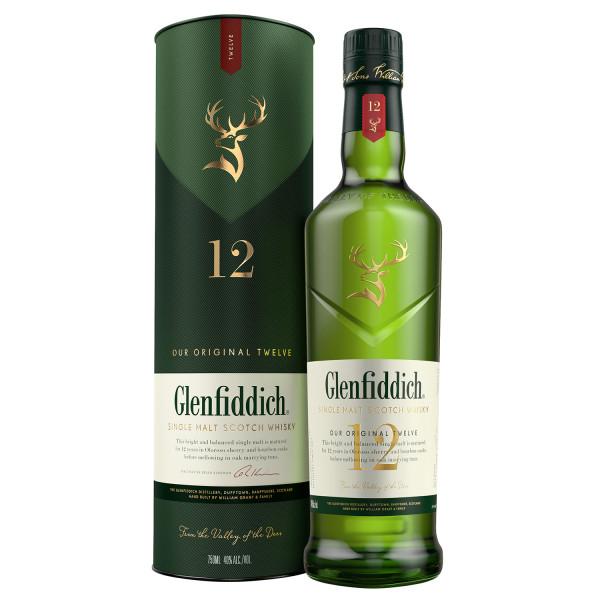Glenfiddich 12 years Speyside Malt Whisky 40% 0,7l