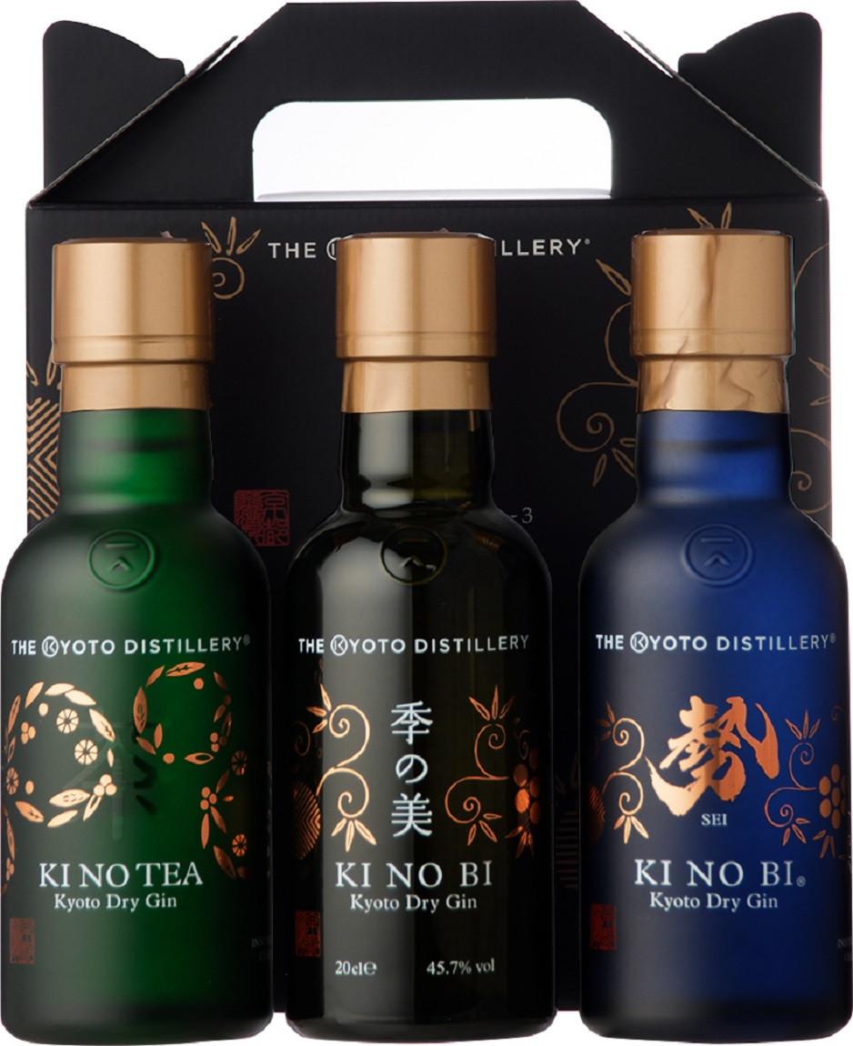 KI NO BI Kyoto Dry Gin Tasting Set 3 x 0,20l