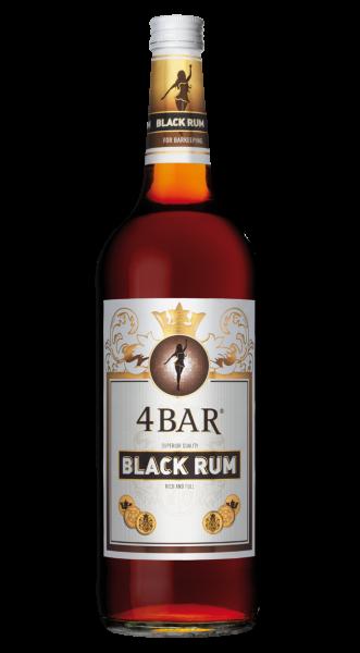 4 Bar Black Rum 37,5% 1,0l