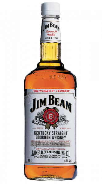 Jim Beam White Kentucky Straight Bourbon Whiskey 1,00l