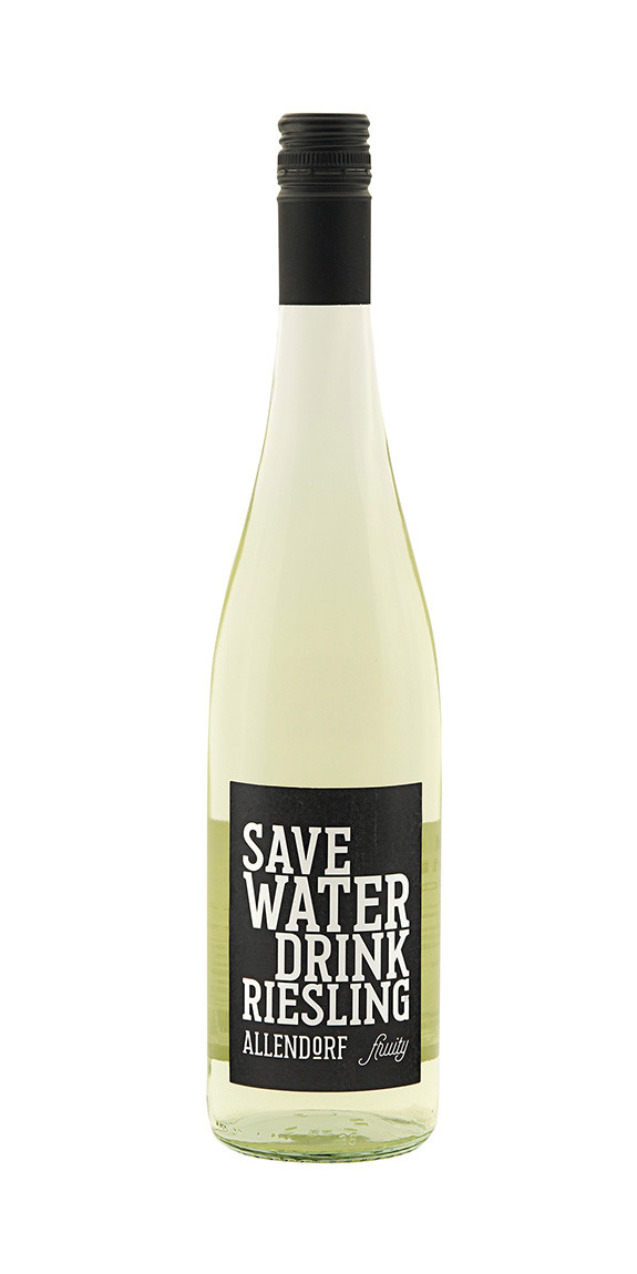 2018 Allendorf Save WATER drink RIESLING fruity