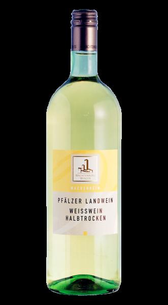 Wachtenburg Pfälzer Landwein Weiß Halbtrocken 1,00 l