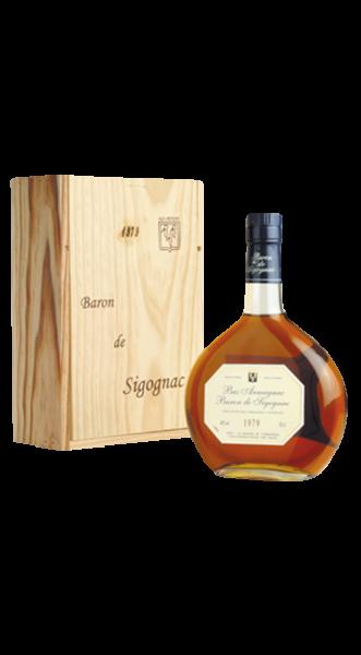1919er Armagnac Baron de Sigognac in Holzkiste 40% 0,70 l