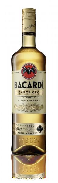 Bacardi Carta Oro Rum 40% 1,0l