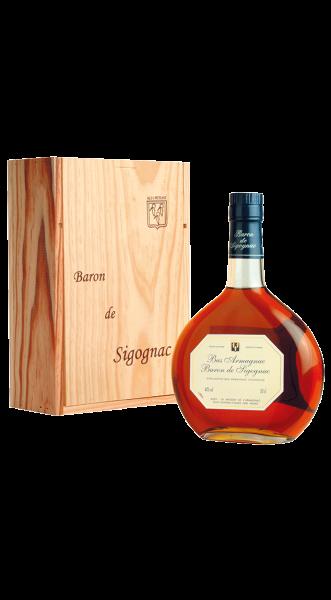 1997er Armagnac Baron de Sigognac in Holzkiste 40% 0,50 l