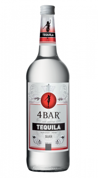 4 Bar Tequila Silver 38% 1,0l