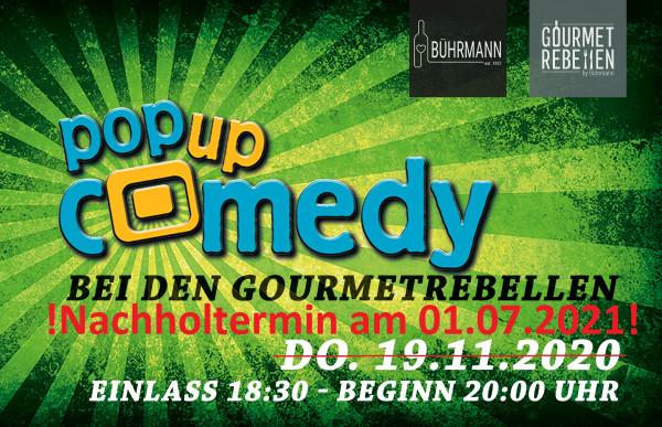 Pop up Comedy Open Air am 01.07.2021 Beginn 20:00 Uhr Einlass: 18:30 Uhr