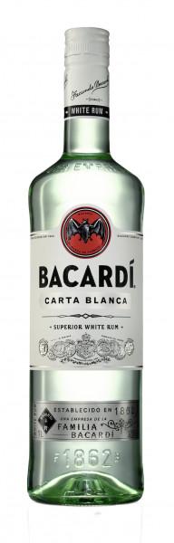Bacardi Carta Blanca Rum 37,5% 1,0l