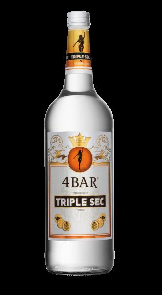 4 Bar Curacao Triple Sec 35% 1,0l !