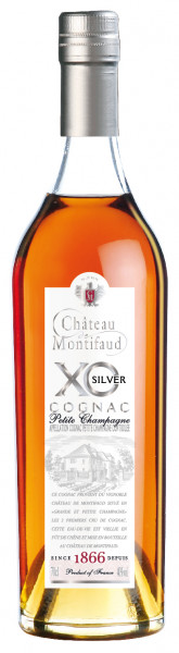 Château Montifaud Cognac XO SILVER Exception Petite Champagne in Metallbox 40% 0,7l
