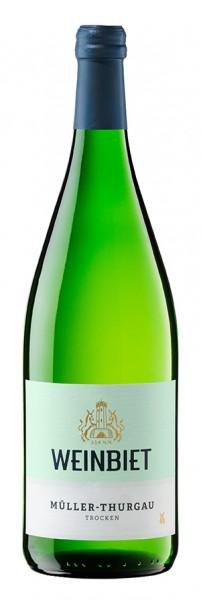 Weinbiet Mußbacher Müller-Thurgau Trocken 1,00 l!