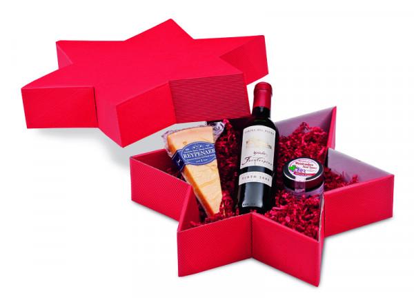 Geschenkpackung Käse & Wein