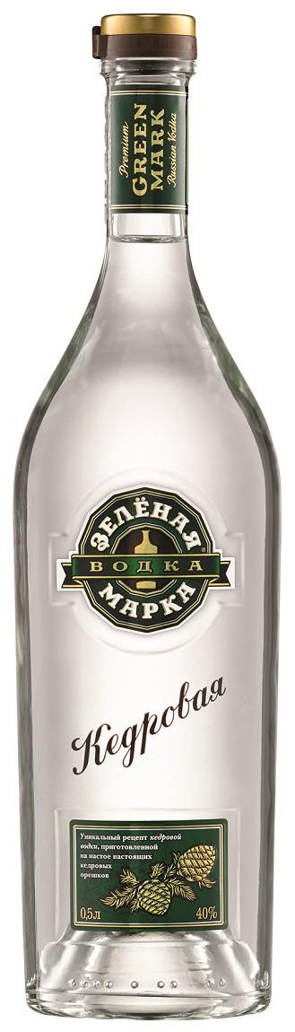 Green Mark Vodka Natural Cedar Nut Flavor 0,5l